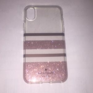 Kate Spade Case for iPhone X Rose Gold Stripe